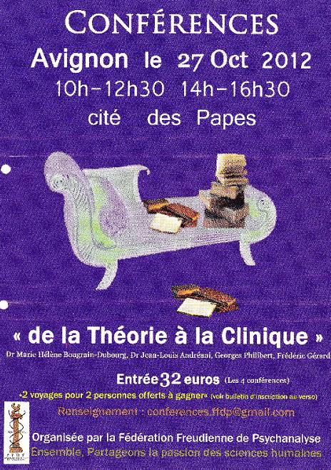 conference psychanalyse de la theorie a la clinique